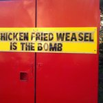 Chicken fried weasel