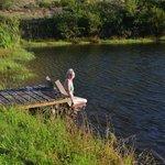 swimming at the dam