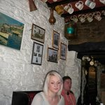 Inside the restaurant of the Blue Anchor