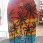 Our signed boogie board