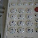 Die Tasten auf dem Telefon wurden Wochen nicht gereinigt.