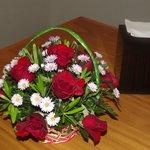 Welcoming fresh flowers