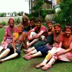 Homestay Guests during Holi