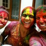 Smiles during Holi :)