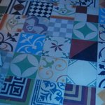 Tiled floor of lobby