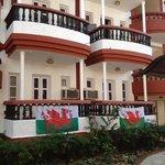 Cymru Am Byth! Santiago Hotel Baga Goa.