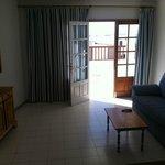 Living room/door to balcony