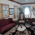 Living Room of the Albert Lowe house.