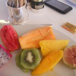 Some of the many fruits from Pergula Restaurant