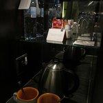 complimentary tea/coffee/water
