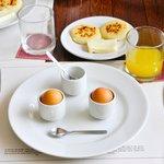 delicious arepas, breakfast.