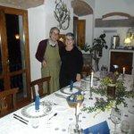 Cena in compagnia allo stesso tavolo