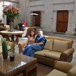 Dans la réception du Casa Andina Private d'Arequipa !