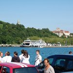 Arriving in Meersburg by ferry