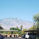 view of mountains from the unit parking lot