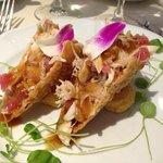 crispy seafood salad - tacos