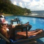 In-pool breakfast