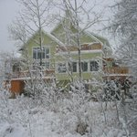 Winter side view of the B&B
