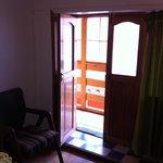 Door and 'window' of the room