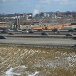 View from room 621 - Highway 401