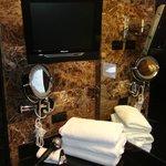 TV near sink area
