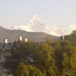 Magnificent Machapuchare Seen from SVIP terrace.