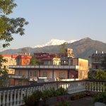 Machapuchare seen from SVIP terrace.