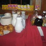 Breakfast buffet, Brown's Wharf Inn, Boothbay Harbor, ME