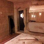 Cave bathroom at Aydinli