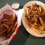 Fried Green Beans & Chili Cheese Fries!