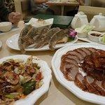 Peking duck and fish