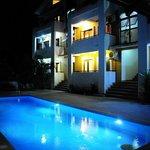 Pool view. Night shot