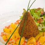 cône de pied de porc aux agrumes et dès de foie gras 2009