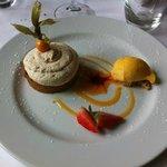 Galette au fruit confit et son sorbet abricot