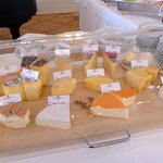 Selection of Cheeses at Breakfast Buffet