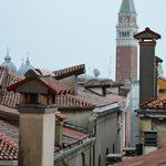 view across the rooftops to the Campanile on St Mark's Square