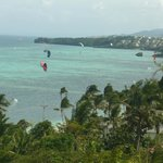 bulabog beach view from apartment