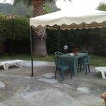 Gazebo and garden area