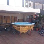 pool side 'jacuzzi'