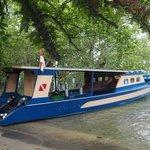 Boat between mangrove @ Bunaken Sea Garden