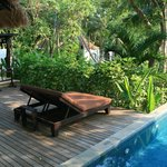 """The outside of our """"Garden Pool Villa"""""""