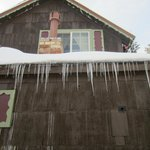 Cool icicles on outside of B&B
