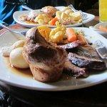 Sunday roast dinners