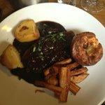 beef roast dinner, delicious.