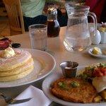 Pancakes and Kalamity Katie's Border Benedict