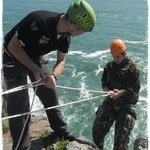 Abseiling at Newtons Head Pembrokeshire
