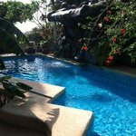 the pool and waterfall!!