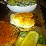 Burger with Ceasar Salad