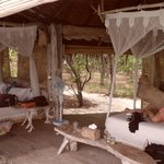 Island hut interior