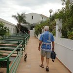 going back to our room (with resident cat)